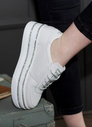 Слипоны 2676 натуральная кожа маломерят кеды кроссовки2 фото