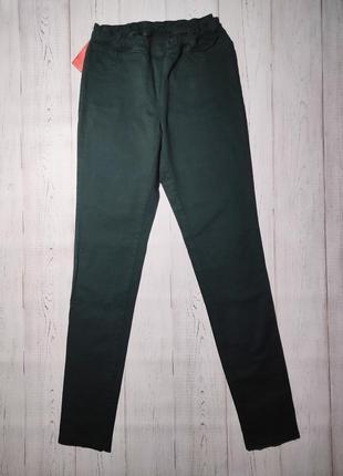 Темно-зеленые джинсы на резинке💚