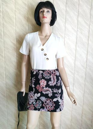 Красивая жаккардовая юбка от new look