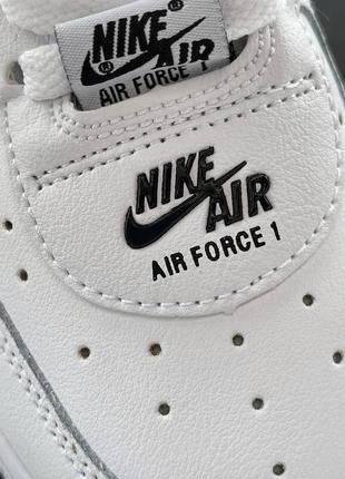 Шикарные женские кроссовки унисекс nike air force 1 double air white наложка3 фото