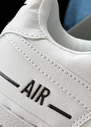 Шикарные женские кроссовки унисекс nike air force 1 double air white наложка9 фото