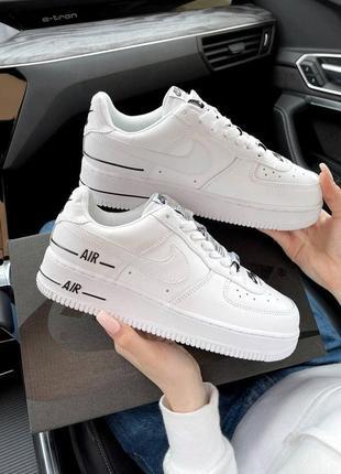 Шикарные женские кроссовки унисекс nike air force 1 double air white наложка1 фото