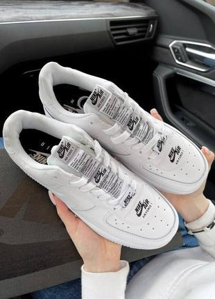 Шикарные женские кроссовки унисекс nike air force 1 double air white наложка5 фото