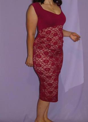 В наличии красивое платье миди для беременных