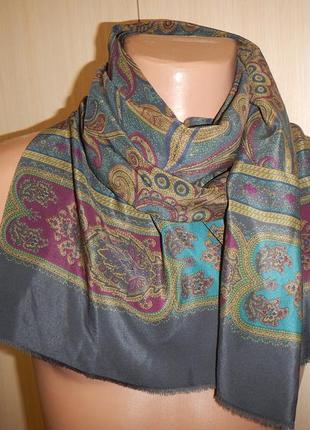 Шелковый шарф кашне италия 100% шелк