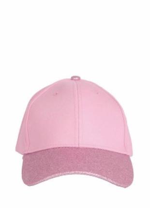 Розовая кепка в блестках, кепка под атлас, женская бейсболка