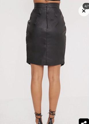 Новая виниловая юбка миди торга нет5 фото