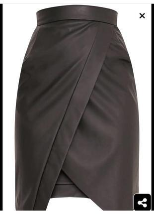 Новая виниловая юбка миди торга нет6 фото