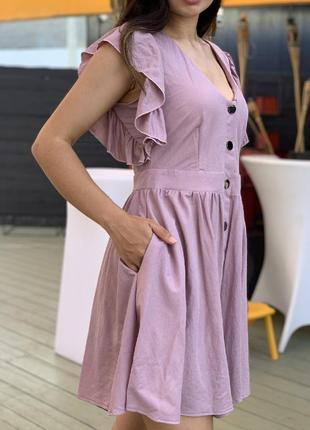 Свободное платье на кнопках 42-52 р-р