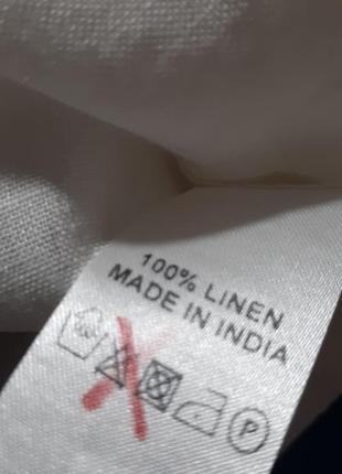 Белая льняная рубашка  блузка лён 100% вышивка туника east6 фото