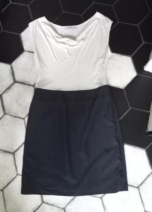 Базовое черно белое платье loft