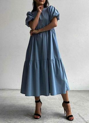 Платье свободного кроя пышные рукава1 фото