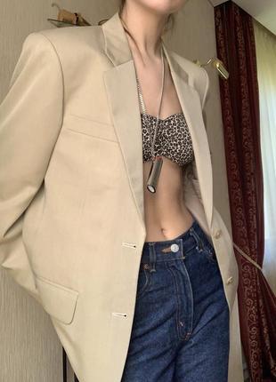 Винтажный оверсайз пиджак