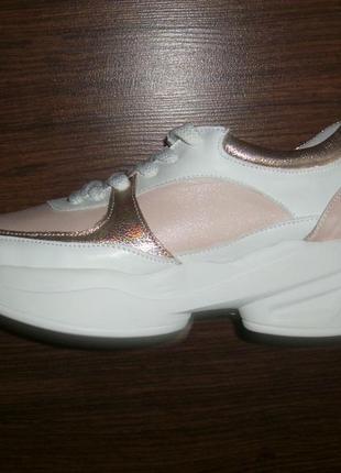 Стильные женские кроссовки, натуральная кожа