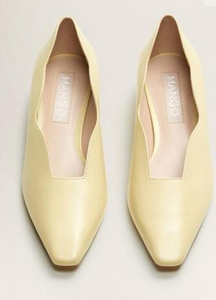 Туфлі лодочки шкіряні нові mango туфли кожа 36 размер
