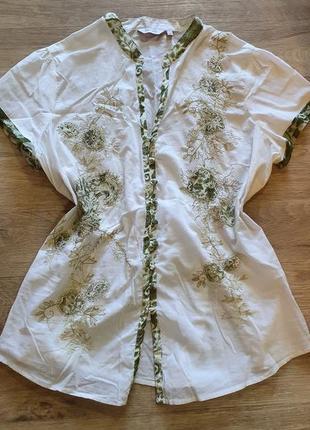 Летняя легкая блуза майка хлопок