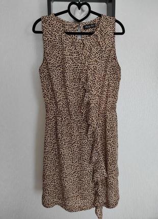 Леопардовое платье бренд pretty girl