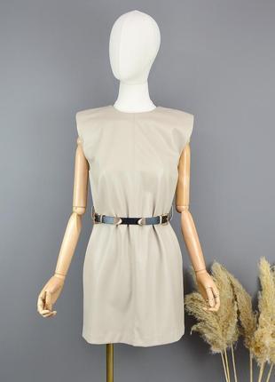 Платье из эко кожи zara3 фото