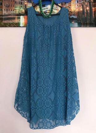 Кружевное шикаоное платье , туника