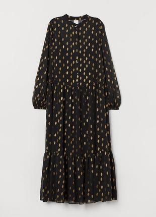 Длинное платье h&m из шифона