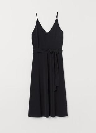 Чёрное трикотажное платье h&m1 фото