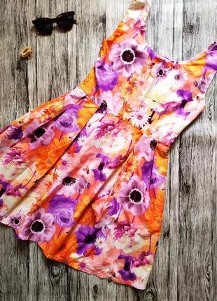 Платье сарафан в цветочный принт1 фото
