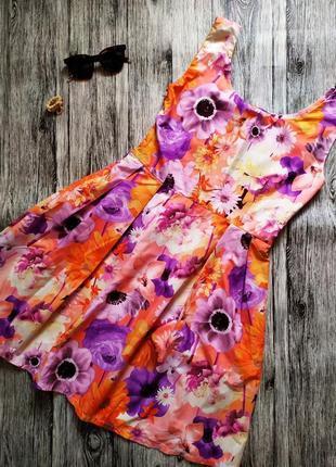 Платье сарафан в цветочный принт4 фото