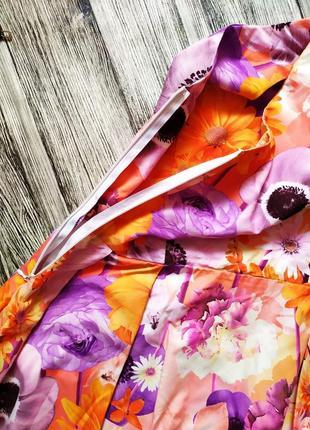 Платье сарафан в цветочный принт6 фото