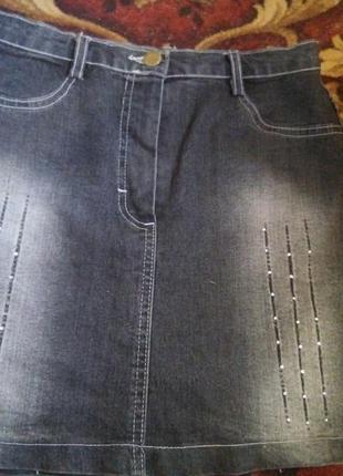 Супер мини-юбка джинсовая1 фото