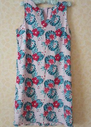 Натуральне платтячко, сукня b.you, льон+віскоза
