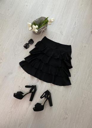 Красивая юбка миди с оборками h&m7 фото