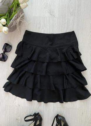 Красивая юбка миди с оборками h&m2 фото