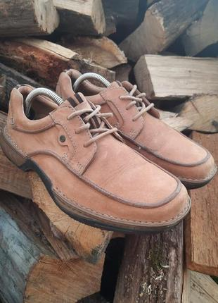 Кожаные туфли,туфлі от clarks active air,ортопедичні!