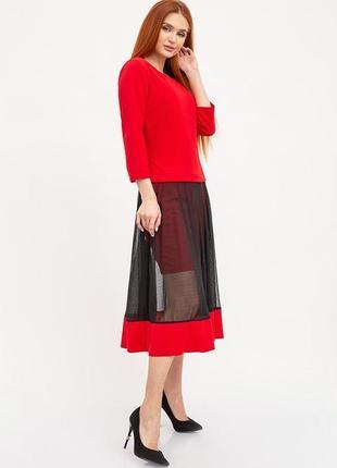 Платье женское 119r461_красный1 фото