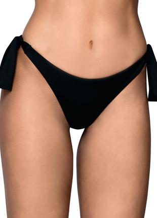 Женские плавки бразильяны купальные на боковых завязках чёрные