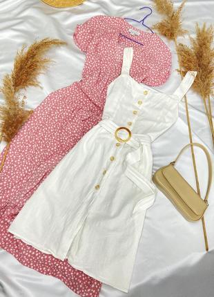 Котоновое платье сарафан с пояском