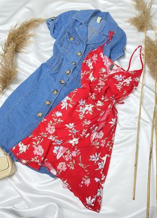 Ніжна сукня на запах в квітковий принт від h&m