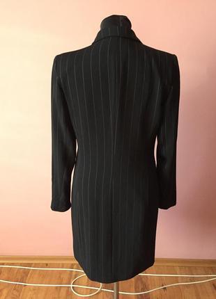 Чёрный кардиган в мелкую полоску на одной пуговице, ткань плотная р-р 46.2 фото