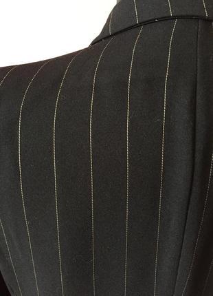 Чёрный кардиган в мелкую полоску на одной пуговице, ткань плотная р-р 46.5 фото