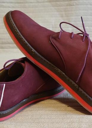 Эффектные темно-бордовые кожаные спортивные туфли  greyder турция 43 р. ( 28,5 см.)