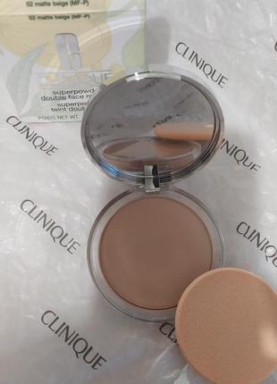 Clinique пудра оригинал. superpowder double face powder