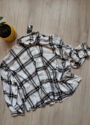 Рубашка женская новая в клетку широкая george1 фото