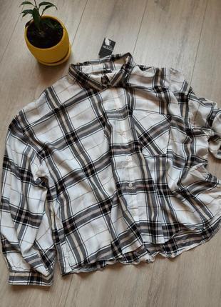 Рубашка женская новая в клетку широкая george2 фото