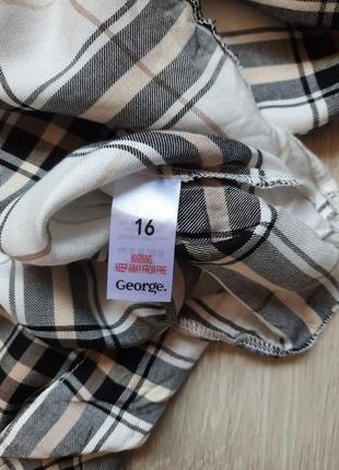 Рубашка женская новая в клетку широкая george4 фото