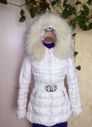 Пуховик на натуральном пуху с песцом/куртка/пиджак/пальто/пуховик/кофта/кардиган