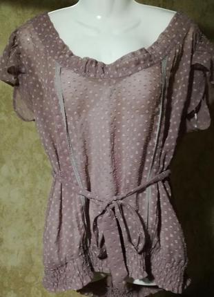 Красивая легкая блуза в горошек atmosphere