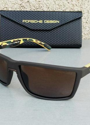 Porsche design очки мужские солнцезащитные коричневые с желтым поляризированые