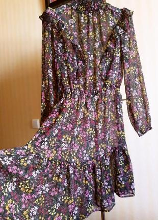 Платье сарафан в мелкий цветочек xs/s/m