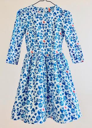 Imperial оригінал дорогий бренд італія плаття з широкою спідницею біло блакитне натуральне