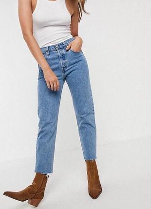 Мом джинсы на высокой посадке levis 501